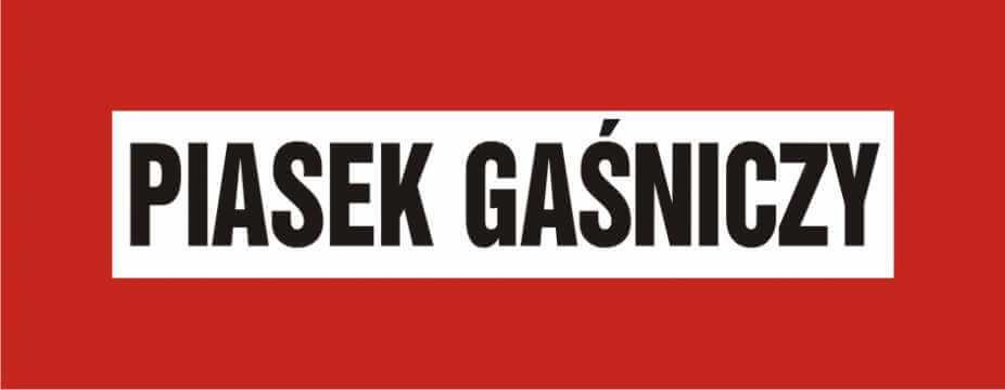 Znak przeciwpożarowy Piasek gaśniczy