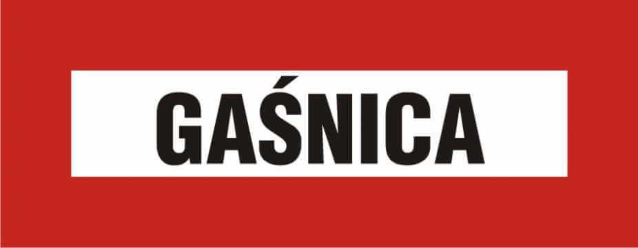Znak przeciwpożarowy Gaśnica 3