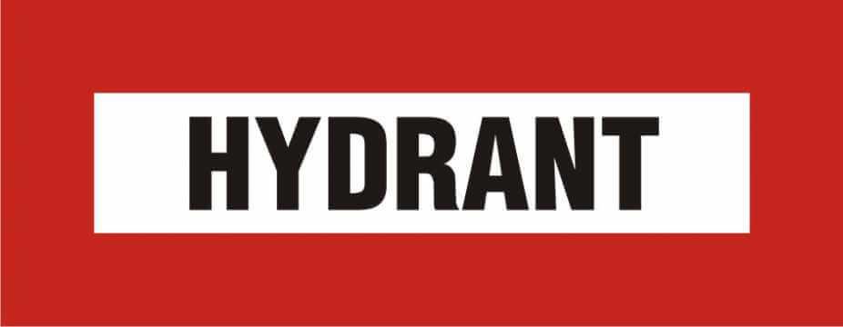 Znak przeciwpożarowy Hydrant