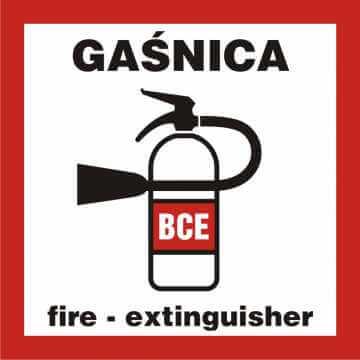 Znak przeciwpożarowy Gaśnica 4