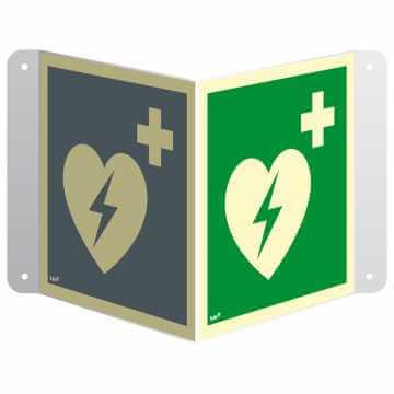 Znak 3D defibrylator (AED) przestrzenny