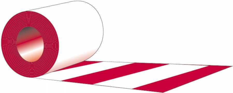 Taśma typ L - Jednostronna biało - czerwona