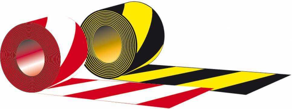 Taśma typ A - Dwustronna czarno - żółta