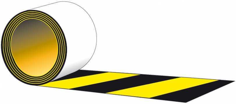 Taśma samoprzylepna na podłogę czarno - żółta