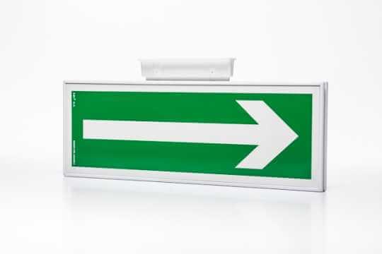 Znak ewakuacyjny Ramka na znak podstropowa dwustronna 10 x 30 cm