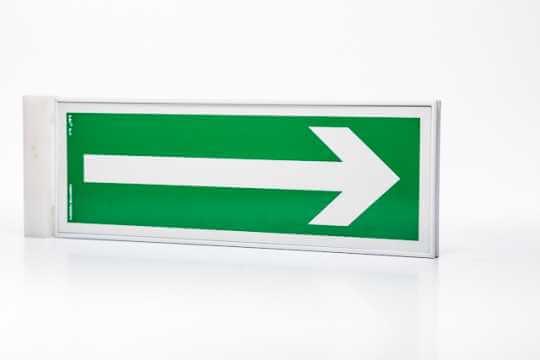 Znak ewakuacyjny Ramka na znak semaforowa dwustronna 10 x 30 cm