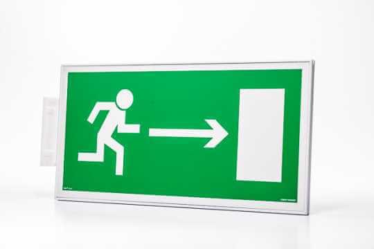 Znak ewakuacyjny Ramka na znak semaforowa dwustronna 20 x 40 cm