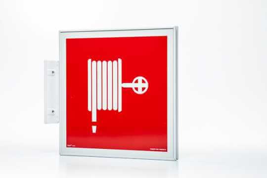 Znak przeciwpożarowy Ramka na znak semaforowa dwustronna 20 x 20 cm