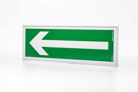 Znak ewakuacyjny Ramka na znak naścienna jednostronna 10 x 30 cm