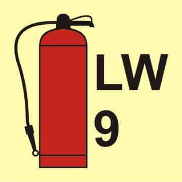 Gaśnica płynowa LW9