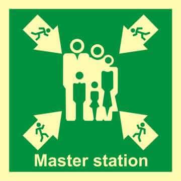 Miejsce ewakuacji przy głównej stacji kontroli