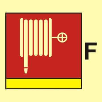 Wąż i dysza pożarnicza (F - piana)