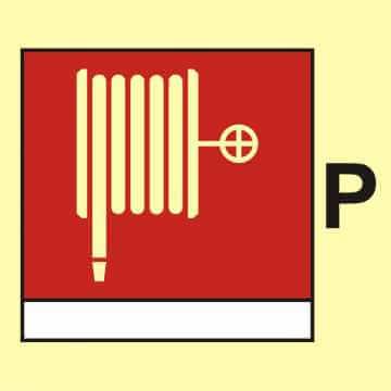 Wąż i dysza pożarnicza (P - proszek)