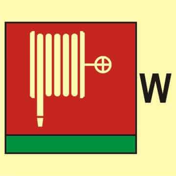 Wąż i dysza pożarnicza (W - woda)