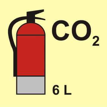 Gaśnica (CO2 - dwutlenek węgla) 6L