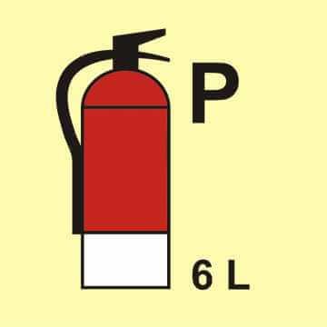 Gaśnica (P - proszek) 6L