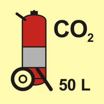 Gaśnica kołowa (CO2 - dwutlenek węgla) 50L
