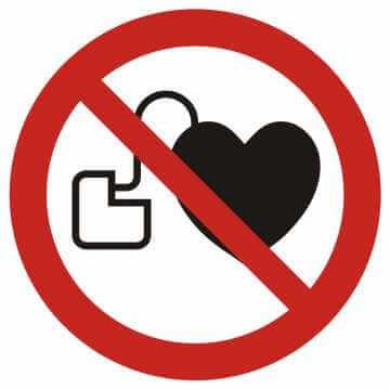 Zakaz wstępu osobom ze stymulatorem serca