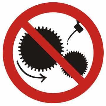 Zakaz smarowania urządzeń w ruchu