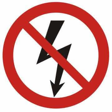 Nie załączać urządzeń elektrycznych