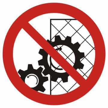 Zakaz zdejmowania osłon podczas pracy urządzenia