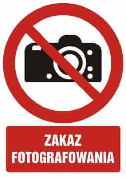 Zakaz fotografowania z opisem