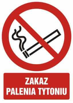 Zakaz palenia tytoniu z opisem