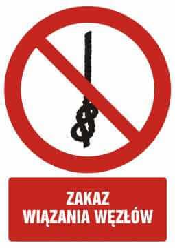 Zakaz wiązania węzłów z opisem