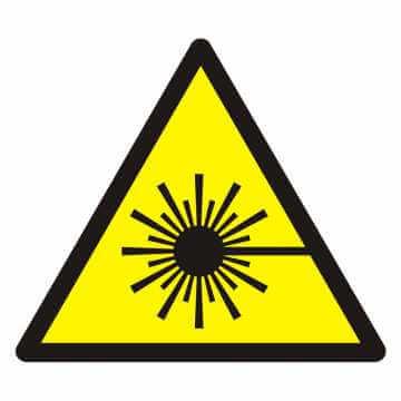 Znak Ostrzeżenie przed wiązką laserową