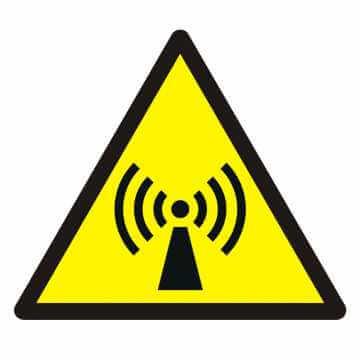 Znak Ostrzeżenie przed promieniowaniem niejonizującym
