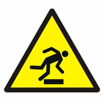 Znak Ostrzeżenie przed niebezpieczeństwem potknięcia się