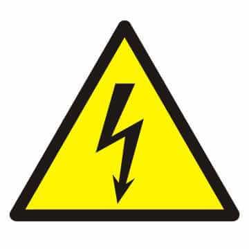 Znak Ostrzeżenie przed napięciem elektrycznym