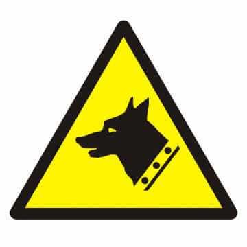 Znak Ostrzeżenie przed złym psem