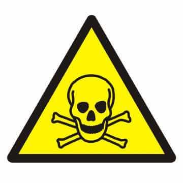 Znak Ostrzeżenie przed materiałami toksycznymi