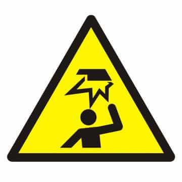 Znak Ostrzeżenie przed uderzeniem w głowę
