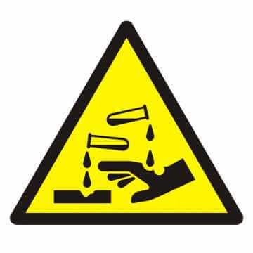 Znak Ostrzeżenie przed substancjami żrącymi