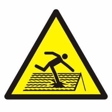 Znak Ostrzeżenie przed kruchym dachem
