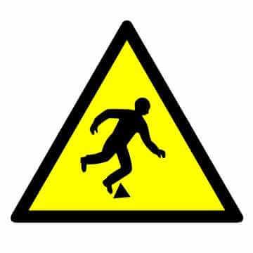 Znak Niebezpieczeństwo potknięcia się