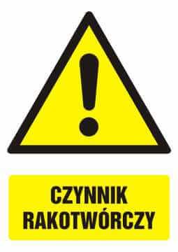 Znak Czynnik rakotwórczy z opisem