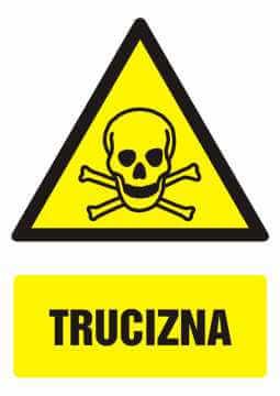 Znak Trucizna z opisem