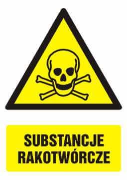 Znak Substancje rakotwórcze z opisem