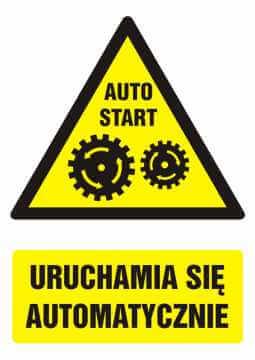 Znak Uruchamia się automatycznie z opisem