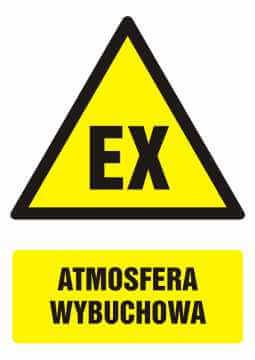 Znak Atmosfera wybuchowa z opisem