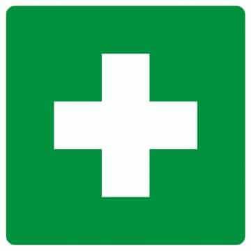 Znak informacyjny Pierwsza pomoc