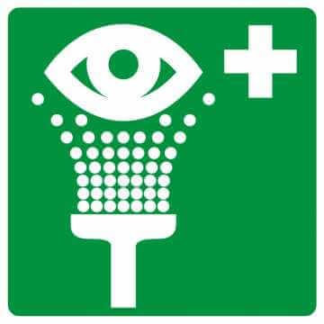 Znak informacyjny Prysznic do przemywania oczu 2