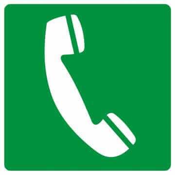 Znak informacyjny Telefon awaryjny 4
