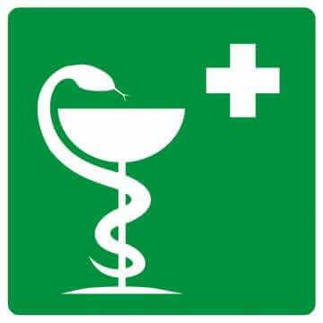 Znak informacyjny Apteczka pierwszej pomocy