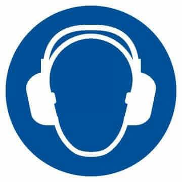 Nakaz stosowania ochrony słuchu