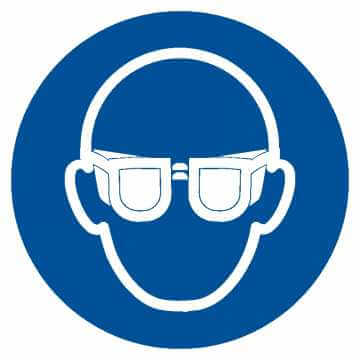 Nakaz stosowania ochrony oczu