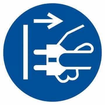 Nakaz odłączenia urządzenia od sieci elektrycznej